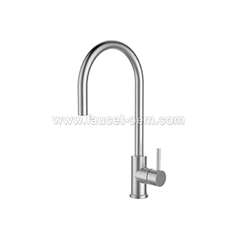 Single handle kitchen sink faucet pull down
