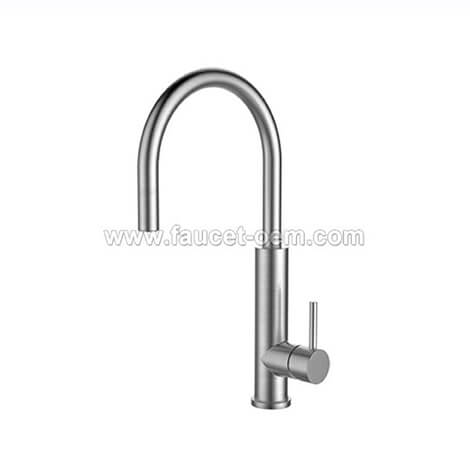 Single handle kitchen faucet with pull down sprayer