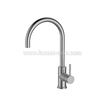 Modern single lever kitchen faucet