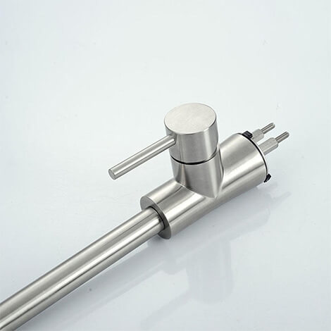 Single lever stainless steel kitchen faucets