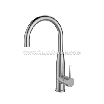 Single mount kitchen faucet