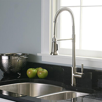 Spring Kitchen faucet with pull out sprayer
