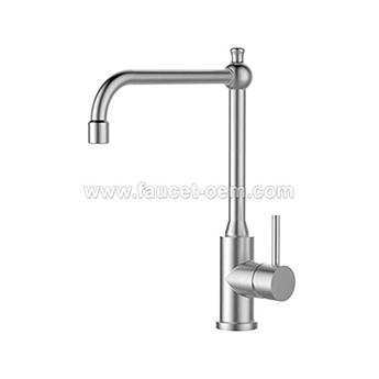 Stainless Steel single lever kitchen faucet