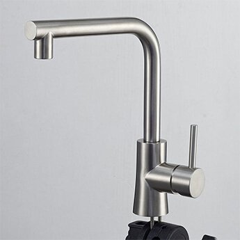 Stainless steel kitchen one handle faucet