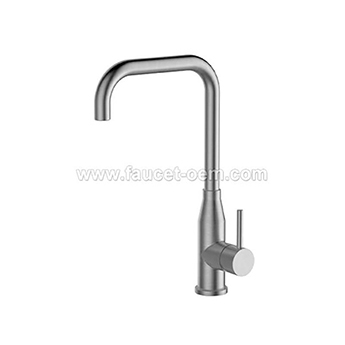 Stainless steel single kitchen faucet