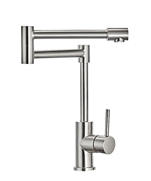 Stainless steel spring kitchen faucet